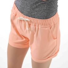 Danjeaner Summer Casual Loose Solid Cotton Shorts Women Fashion Lace Up Sport Shorts High Waist Wide Leg Shorts with Pockets цены