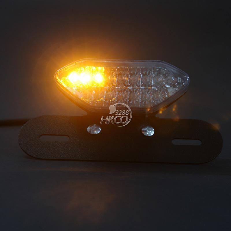 Motorcycle LED Turn Signal Integrated License Plate Bracket Tail Light Sport Street Bike Quads