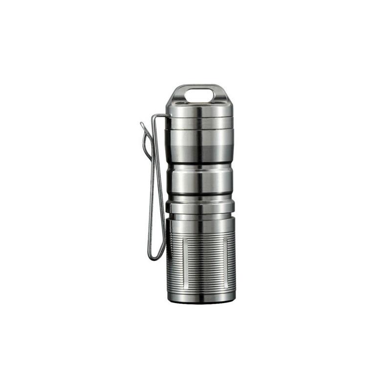 Jetbeam MINI 1 Super Mini Powerful and Rechargable Cree XP G2 LED Led Flashlight Titanium Keychain