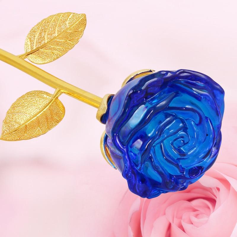 XINTOU Kristal Şüşə Əbədi Gül Çiçək heykəlcikləri - Ev dekoru - Fotoqrafiya 5