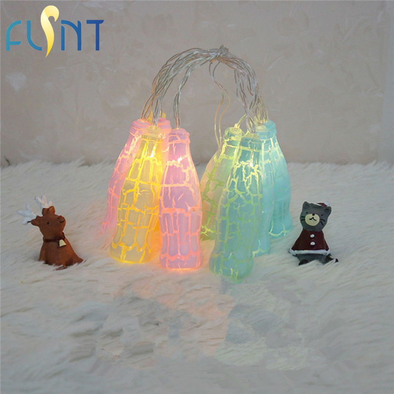 10led Aa Battery Box Light Colorful Crack Ball Star Conch Bottle Decoration Color Light String Bedroom Decoration Free Shipping