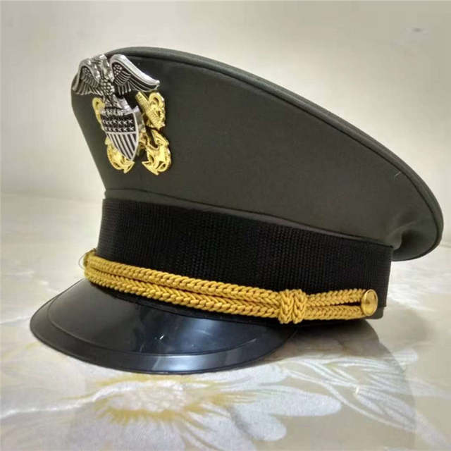 b3027c7b fancy green navy hats army cap American officer hat for land force military  eagle emblem hats unique Halloween Christmas gift