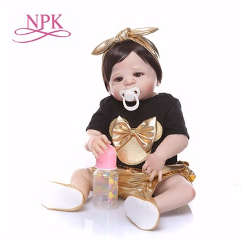 57cm Full Body Silicone Reborn Girl Baby Doll Toys baby reborn  Princess Toddler Babies Dolls Bathe Toy Play House Toy toys
