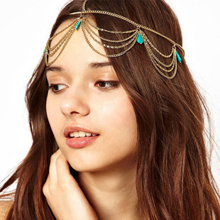 Alarm Bruid Haar Decoratie Vrouwen Tassel Hoofdbanden Fashion Indian Boho Kralen Kopstuk Wedding Head Chain Haar Sieraden Ca008