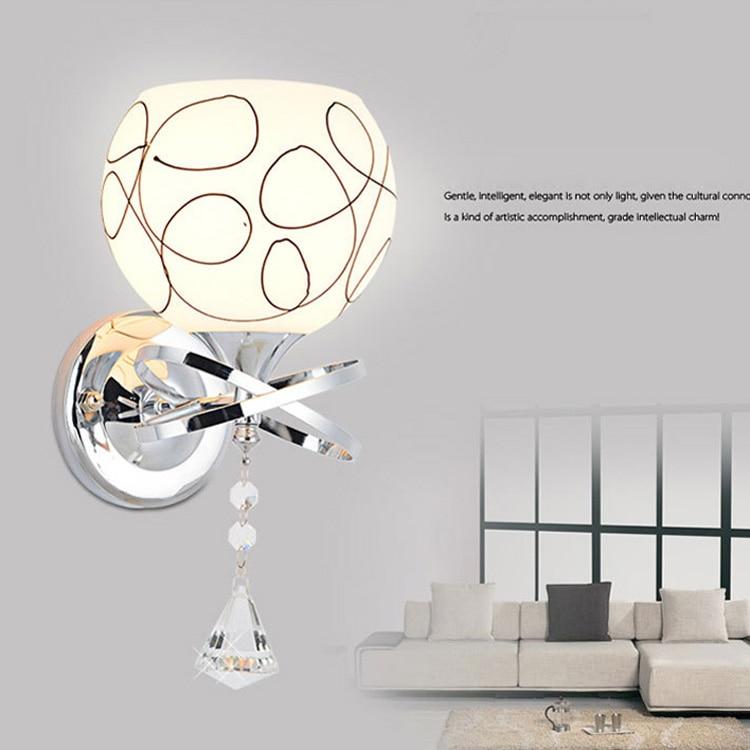 Crystal Wall Lamp Modern Sconce Wall Lights E27 Bedside ...