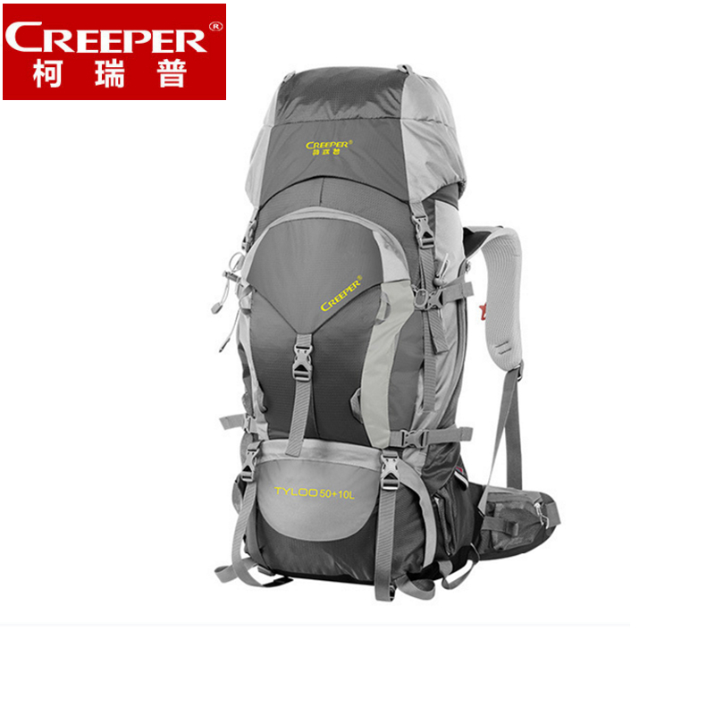 CREEPER Professional outdoor climbing backpack shoulder camping hiking equipment backpack 60L for men and women cool waterproof outlife new style professional military tactical multifunction shovel outdoor camping survival folding spade tool equipment
