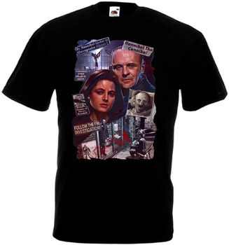The Silence Of The Lambs Movie Poster Homme Funny Tshirts Japanese Streetwear Tshirt Sexy Girl T Shirts Skull T-Shirt Xxxxl