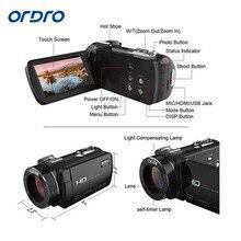 "ORDRO Full HD Digital Video Camcorder Digital camera DV 1080P 24MP Three"" ZOOM+Tripod"