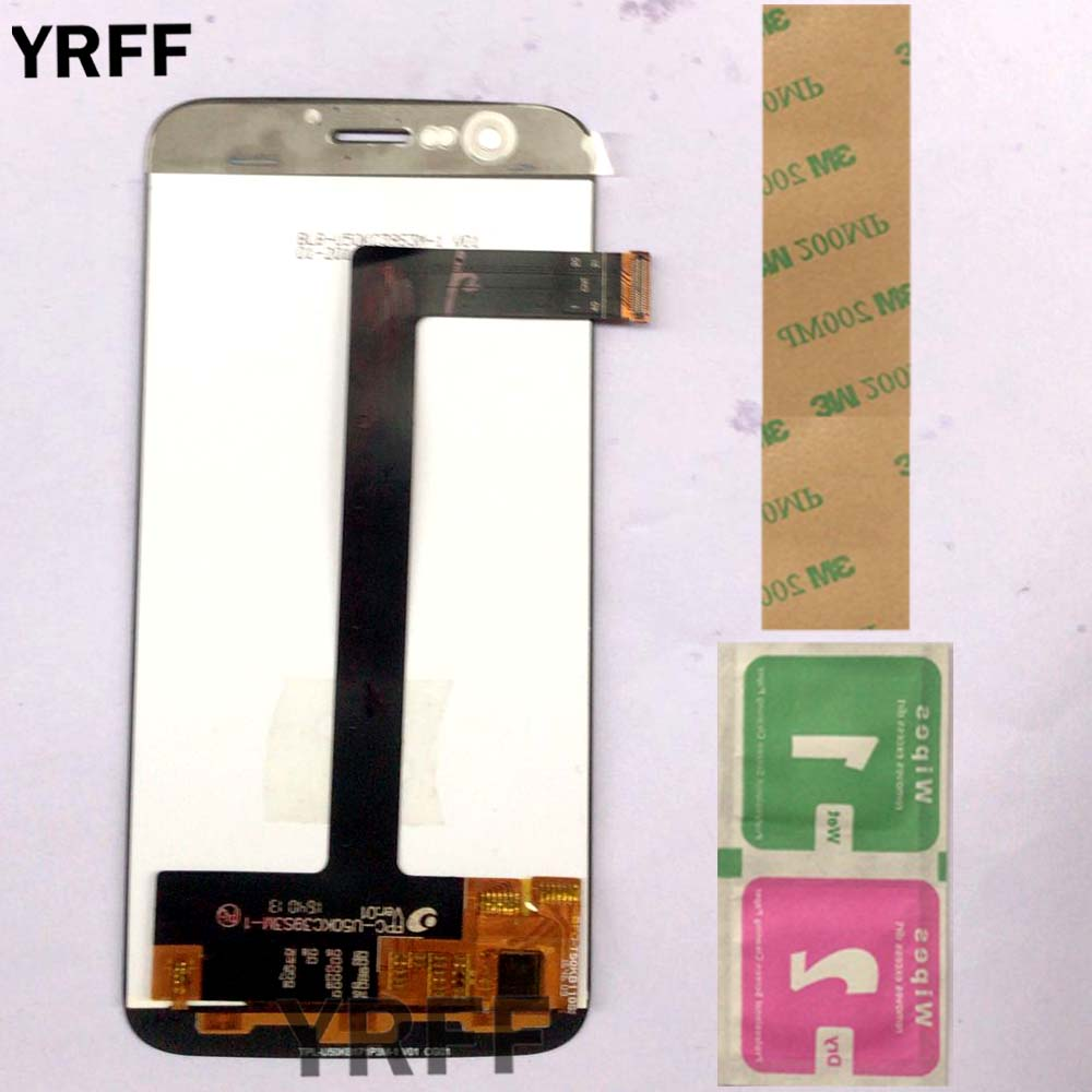 Mobile LCD Display For Vernee Thor Touch Screen Digitizer Assembly 100 Original New LCD Touch Digitizer Tools 3M Glue in Mobile Phone LCD Screens from Cellphones Telecommunications