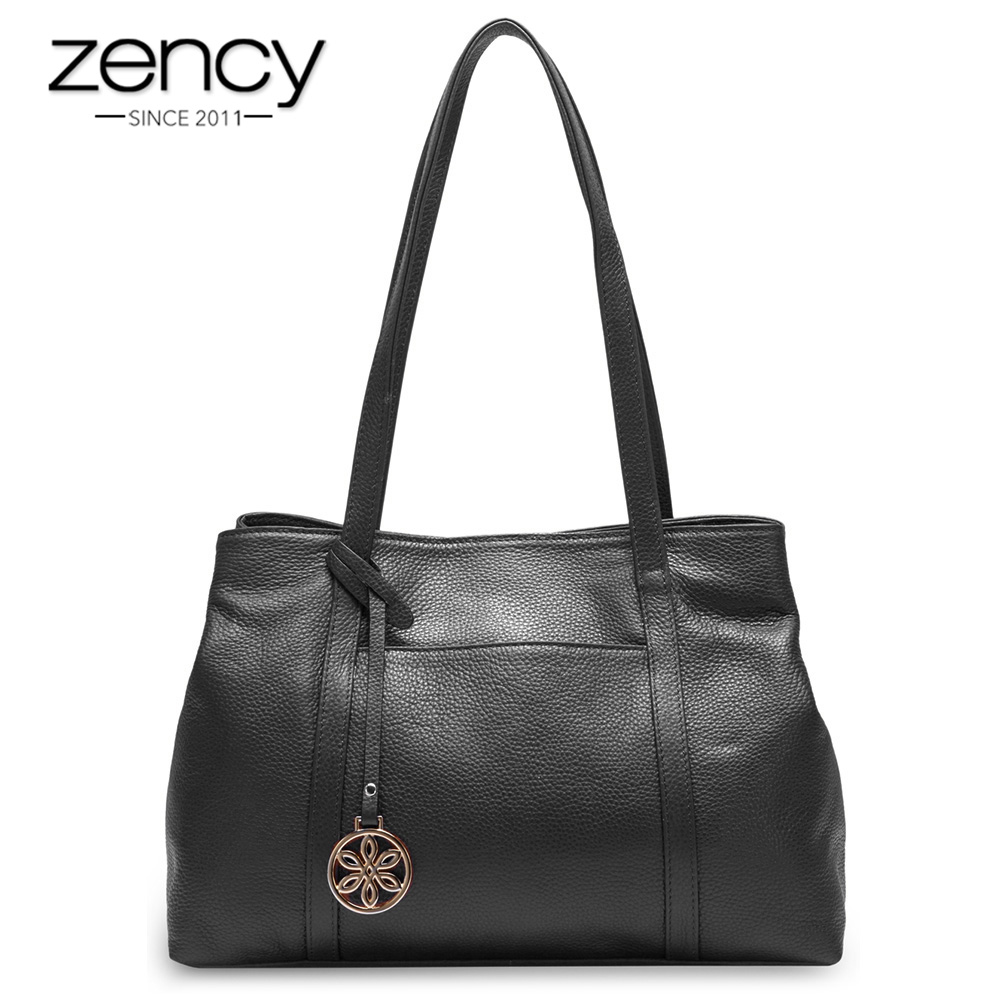 Zency 100% Natural Cow Leather Fashion Women Shoulder Bag Super Quality Charm Messenger Lady Casual Tote bolso hombro las mujere