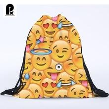 Pacento Je mode Femmes sacs Emoji Sac À Dos 3D impression sac de cordon de voyage scolaire de l'enfant sacs hommes sacs à dos Feminina Harajuku