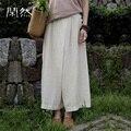 XianRan Mulheres Calças Moletom Soltas Ocasionais Longas Botão Calças De Linho Plus Size Calças Frete Grátis