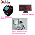 1 control panel 3 watches 95 push button with power supply Wireless Nurse Paging System for Hospital Clinic Nursing House