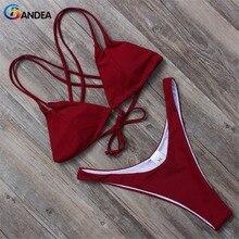 Bandea 2017 женщин купальники бикини бразильские бикини мягкий купальник короткий топ купальный костюм майо де бейн роковой ha011