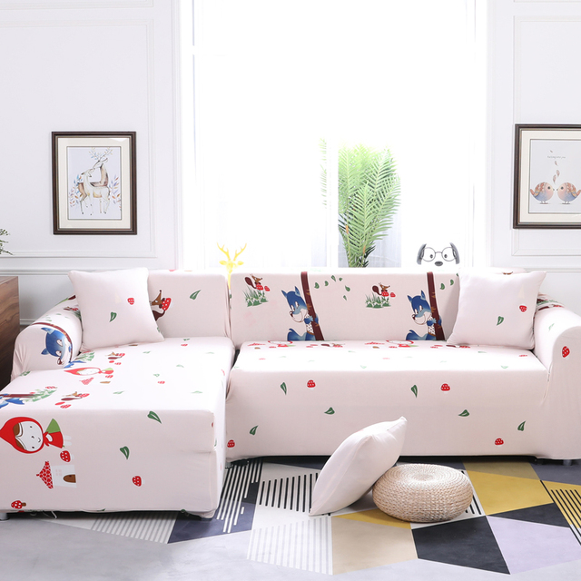 Premium Quality Sofa Covers For L Shape Polyester Stretch Slipcovers Sectional
