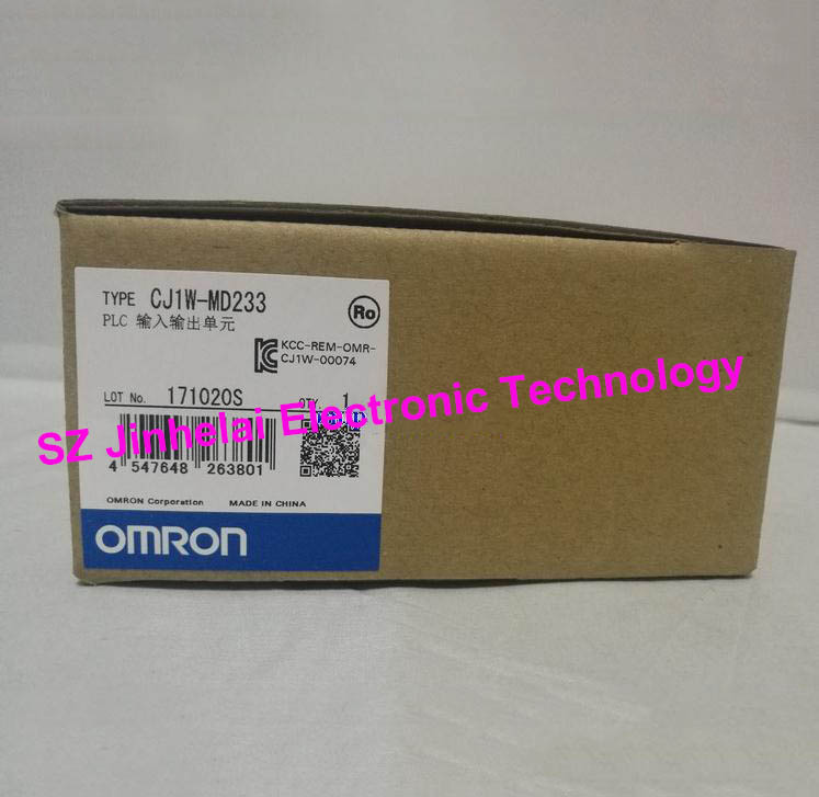 100% New and original CJ1W-MD233 OMRON PLC INPUT/OUTPUT UNIT new original cj1w ph41u plc 4 input point process input units