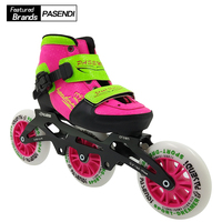 Professional Adjustable Speed Skating Shoe Kids Roller Inline Skates Boot 3wheels or 4wheels Adjust Shoes For Child Girls Boys