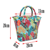 Short Round Flora Canvas Fabric Handle With Mini Insert Lining For Obag Classic Mini O Bag