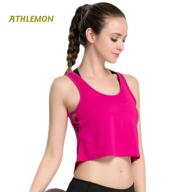 Women Gym Red Yoga Crop Tops Yoga Shirts Long Sleeve Workout Tops