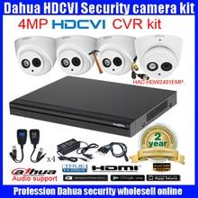 Original English DAHUA 4MP  VANDALPROOF CAMERA HAC-HDW2401EMP cvi dome camera with 4MP Digital CVR DHI-HCVR7104H camera kit