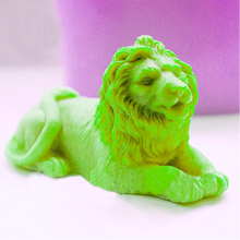 lions Silicone molds soap mold silicone molds3d lion silica gel die 3D Aroma stone mould candle