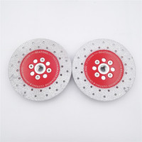 DIATOOL 2pcs 5 Double Sided Vacuum Brazed Diamond Cutting Grinding Disc With M14 Thread Premium Quality