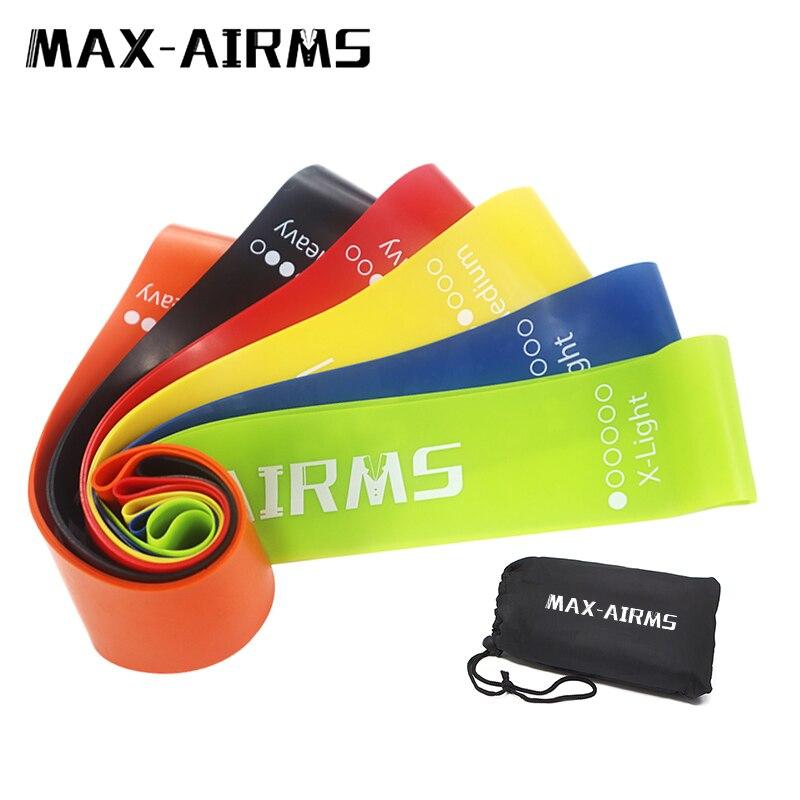 <+>  Maxairms Resistance Bands Set 6 уровней Тренировки для фитнеса Тренажерный зал оборудование резиновы ✔