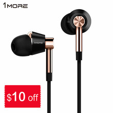 Original 1More E1001 Triple Driver In-Ear Earphone Earbuds Auriculares with In-line Microphone and Remote for IOS iPhone Xiaomi