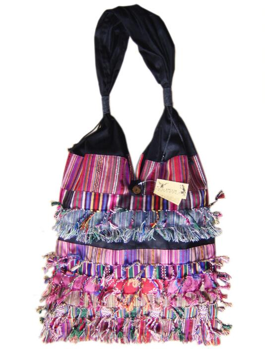 Willsrain Folk style authentic fringe bag quilt lady bag Bohemia personality nice colorful shoulder bag vintage