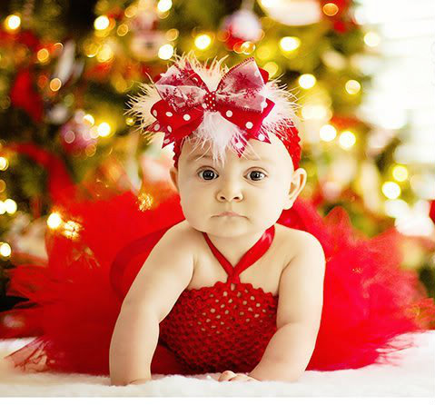 Christmas Red Peach Blush Baby Dresses Infant Toddle Baby Girl Party