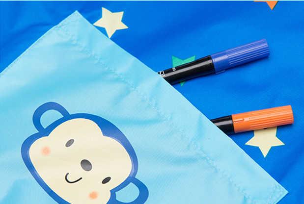Anak Perempuan Laki-laki Waterproof Lengan Panjang Art Smock Apron 2017 Baru Kartun anak-anak Pakaian Bayi Celemek Lukisan Anak Oto