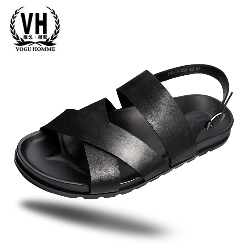17 New England summer men leather sandals leather casual sandals personality men beach shoes shoes tide new england textiles in the nineteenth century – profits