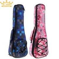 21 Inch Colorful 2 Colors Optional Ukulele Bag 10mm Cotton Soft Case Gig Ukelele Mini Guitar