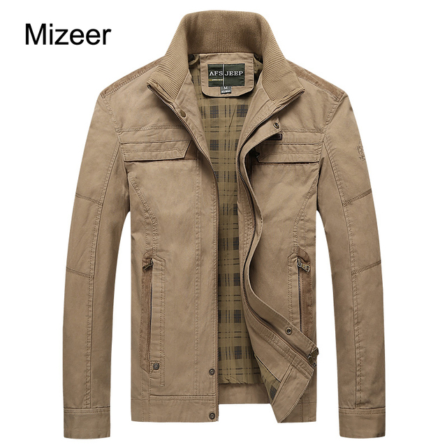 8fb3ea077b53f MIZEER 2017 New Camouflage Jackets Men Coat Plus Size M-4XL Fashion Military  Air Jacket Cotton Stand Collar Coat 3 Colors