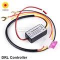 2016 Novo Controlador DRL Auto Car LED Daytime Running Luz Relé Harness Dimmer On/Off DC12-18V Motorista Luz de Nevoeiro indicador