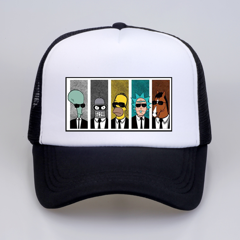 Anime rick morty   Baseball     Caps   Cool TV   cap   Summer print Men Women Couple Geek BoJack Horseman Snapback Hats Boyfriend's hat