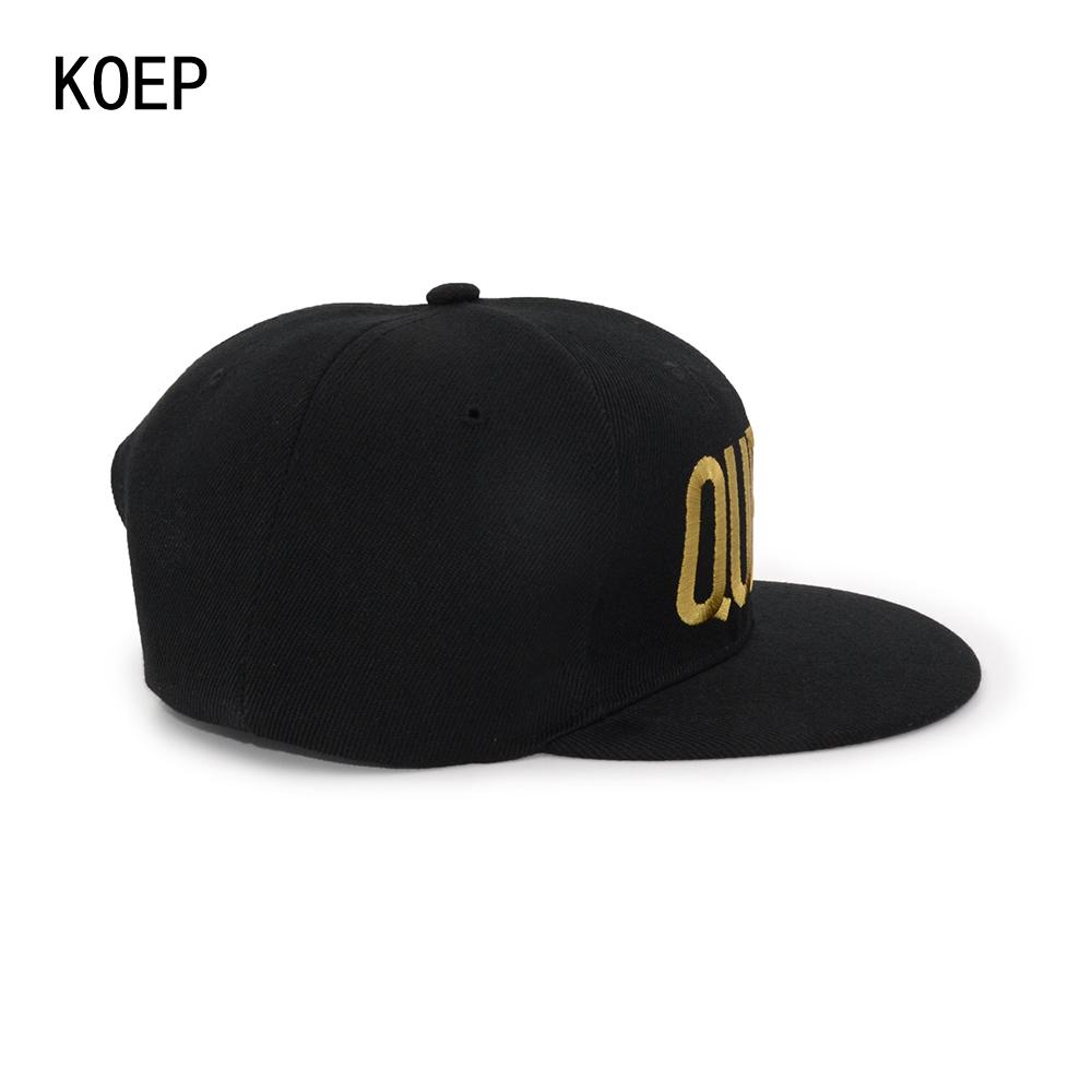 black snapback hat KOEP®-HHC-17-GQ-6