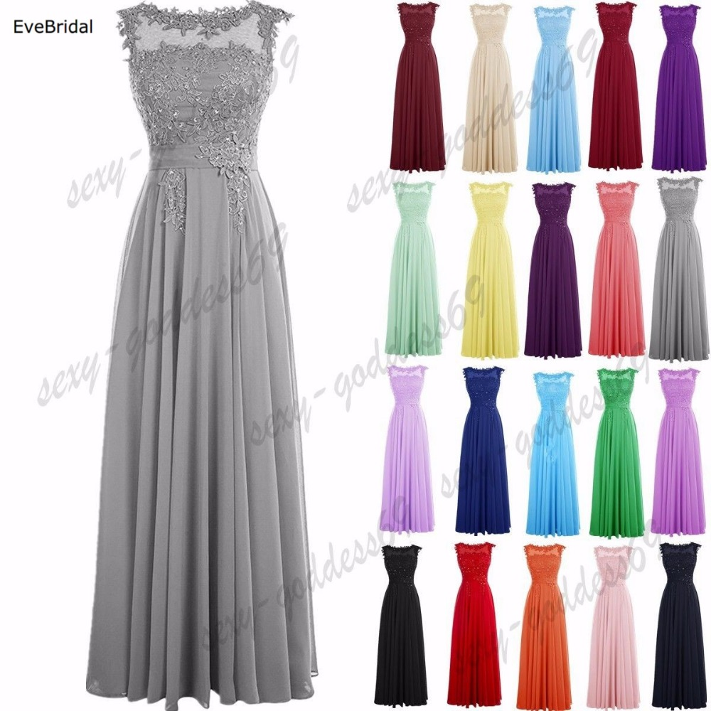 A-line Scoop Chiffon Applique elegant off-shoulder cheap Beading bridesmaid dresses Wedding party dresses robe de soiree Lace Up(China)