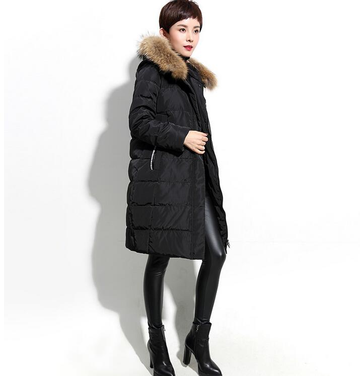 Simple Design Women Winter   Coat   Hooded Fur Trim   Down   jacket Winter   Coat   Thick   Down     Coat   Plus Size