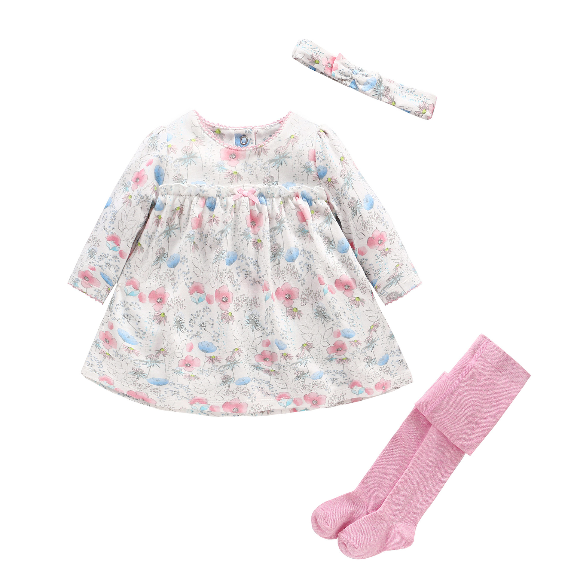 Baby Girl Clothes Set Newborn Girl Baby Dress+ Headband+Pantyhose 3pcs Sets Baby Floral Clothing for Gift Sets Infant Outfit new baby girl clothing sets lace tutu romper dress jumpersuit headband 2pcs set bebes infant 1st birthday superman costumes 0 2t