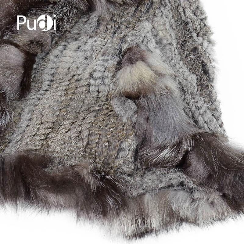 CK709 NEUE echte Kaninchenfell gestrickte Schals / Poncho mit echten - Bekleidungszubehör - Foto 6