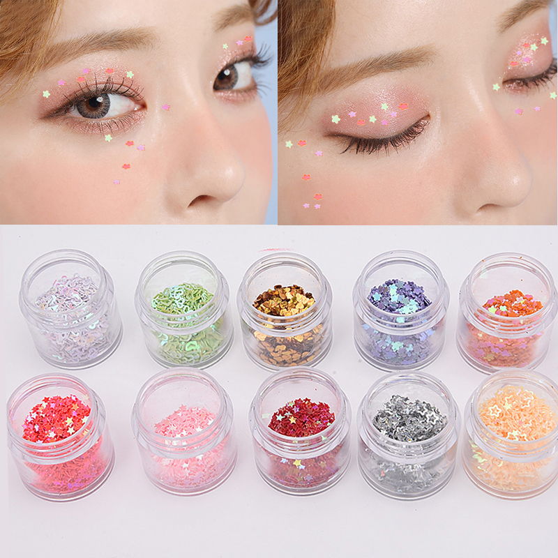 Loose Pigment Eyeshadow Makeup Holographic Glitter Eyes Face Make Up Sequins Festival Party maquiagem Cosmetics Tools