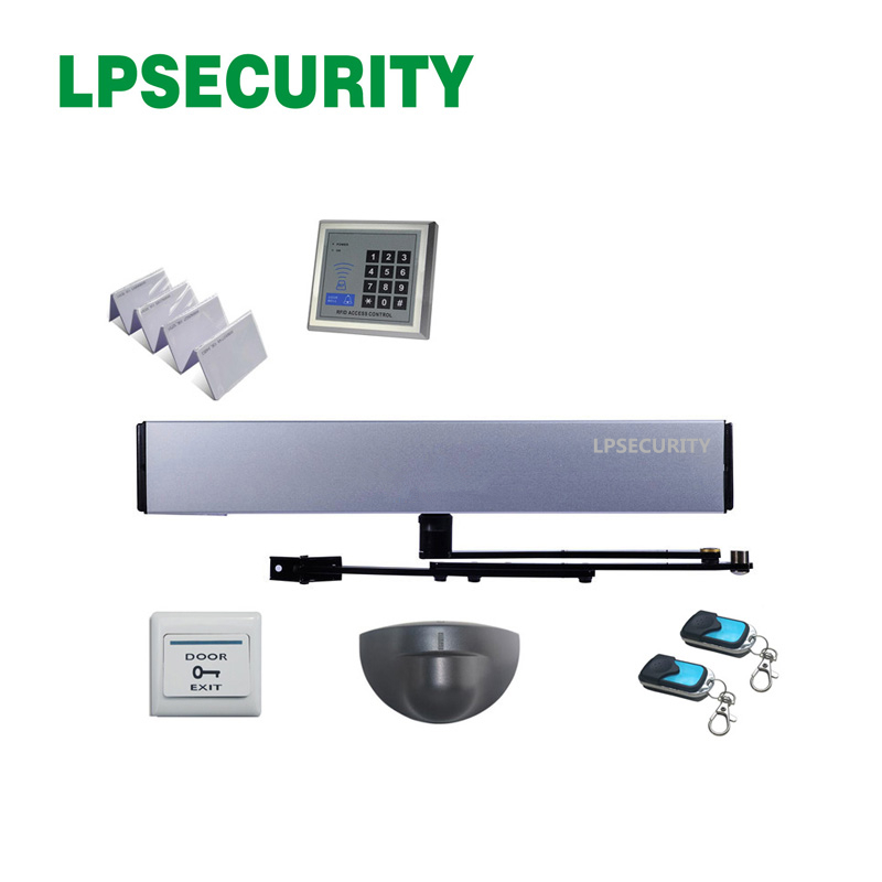 LPSECURITY Microwave Motion IR Sensor Remote Control Automatic Swing Door Gate Opener Single Leaf 100kg Loading Weight Kit 2