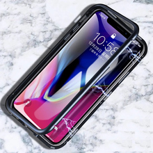 Magnetic King Metal Frame Mobile Phone Case for iPhone X tempered glass Cover For iphone 7 8 7plus plus Accessories