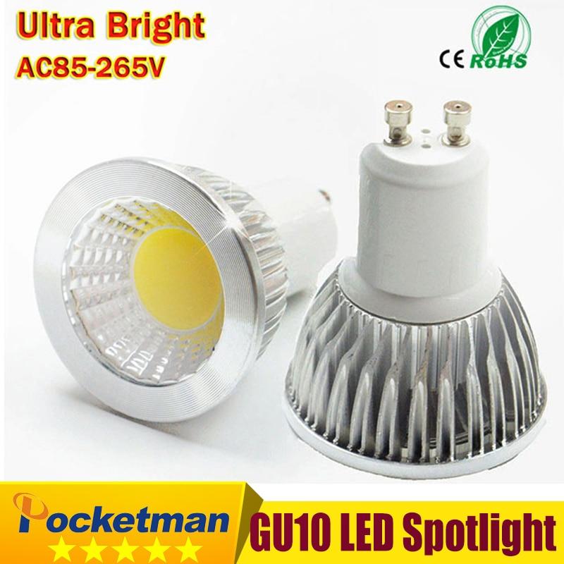 все цены на LED Bulb GU10 COB Led Spot Light 6W 9W 12W GU10 led Spotlight Bulb lamp light Dimmable AC85v-265v Super Bright free shipping онлайн