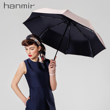 Hanmir sonnenschirm falten sonnenschirm automatikschirm frauen regen sonnenschirm auto vintage damen uv regenschirm für sonne
