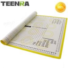 TEENRA шт. 1 шт. 66*46 см антипригарным коврик для раскатки теста силиконовые коврики для выпечки и вкладыши духовка силиконовый коврик для выпечки формы выпечки cozinha