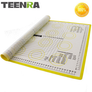 TEENRA 1PCS 66*46cm Non Stick Rolling Dough Mat Silicone Baking Mats And Liners Oven Silicone Pastry Mat Bakeware cozinha(China)