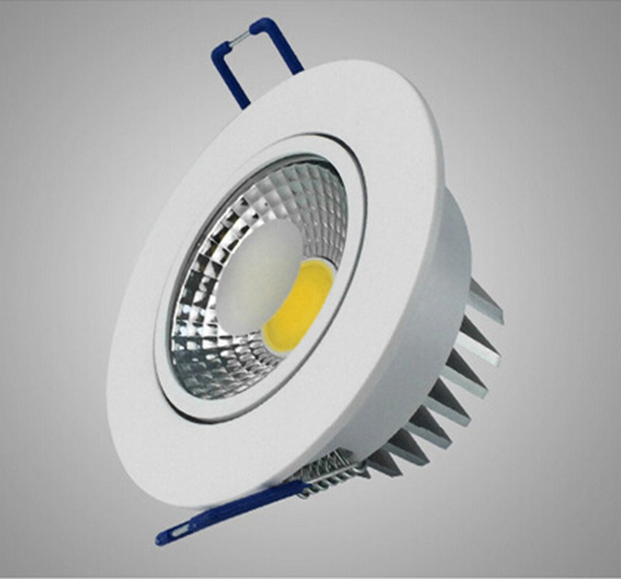 COB 5W 9W 12W 15W White Shell LED Downlight Tiltable Fixture Ceiling Display Anti-glare Spot Down Light Warm Natural Cool White