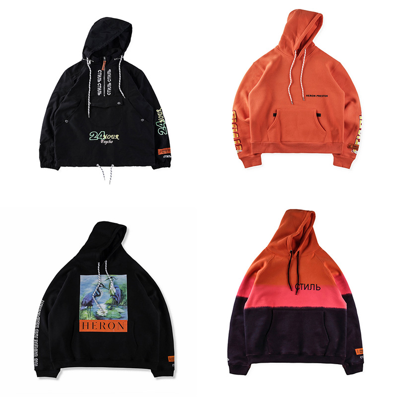 Unisex Hoodie HERON PRESTON 18FW CTNNB Pullover Sweatshirts Coat
